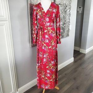 NWT GIANNI BINI   Floral Maxi Dress S/M